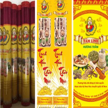 Hương que ống vừa (38 cm) nhãn hiệu Tâm Linh Hương Trầm